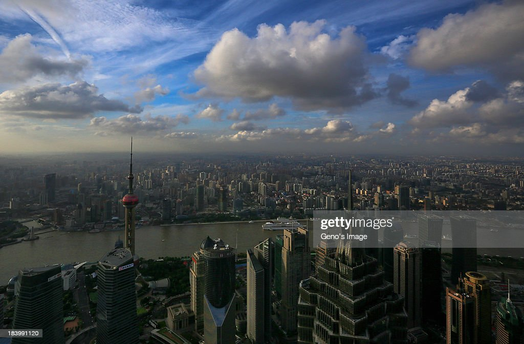 Panoramic Shanghai : Stock Photo