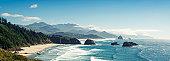 Panoramic Shot of Cannon Beach, Oregon