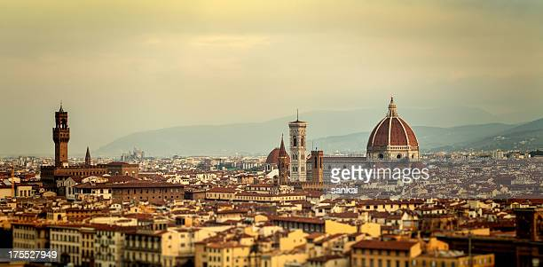 Panoramic shot of Florence in the morning, Italy.