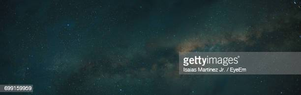 Panoramic Shot Of Milky Way And Stars In Sky At Night