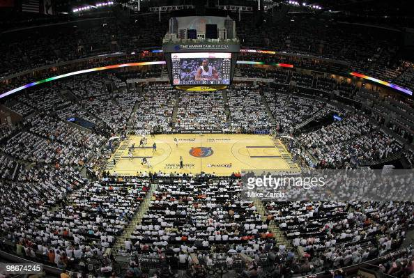 Panoramic shot of Time Warner Cable Arena during the opening minutes of Game Three of the Eastern Conference Quarterfinals between the Orlando Magic...