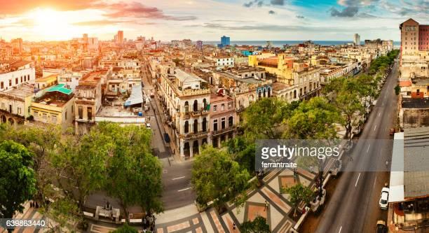 Panoramic Skyline of Old Havana Cuba