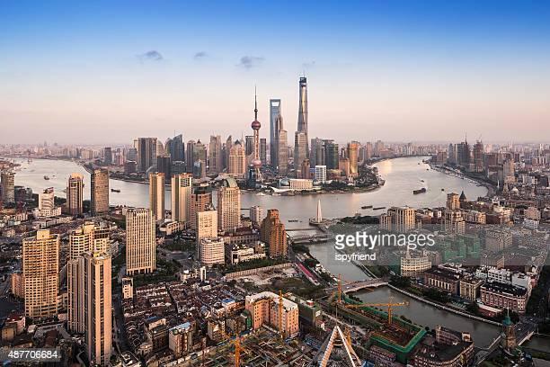 Horizonte panorâmica de Xangai