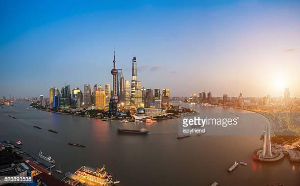 Panoramaausblicke auf die skyline von Shanghai