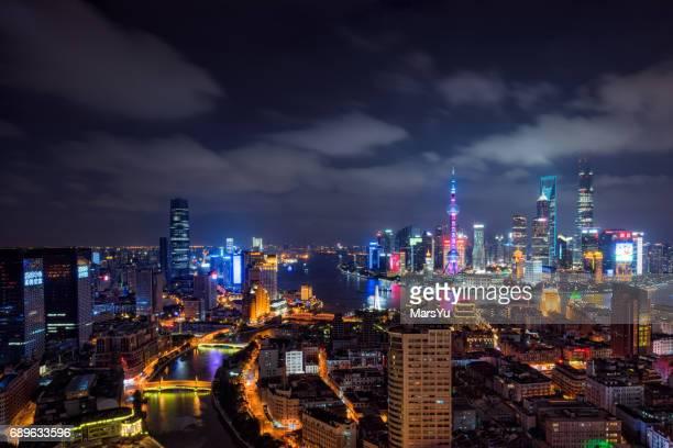 Panoramic skyline of Shanghai