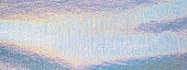 Panoramic texture background image of shiny metallic crumpled holographic surface