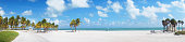 Panoramic view at Crandon park Beach of Key Biscayne, Miami, USA