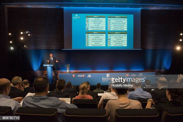 Panoramic view during the 20172018 7Days EuroCup Draw at Imagina Centre Audiovisual on July 6 2017 in Barcelona Spain