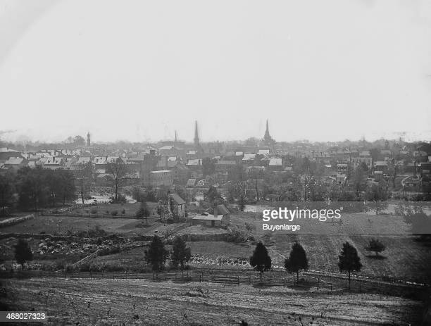 Panoramic view during the Civil War Petersburg Virginia 1860s