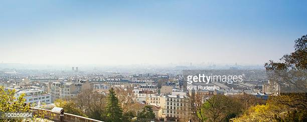 Panoramic view from Montmartre, Paris, France