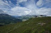 Panoramic view from Muottas Muragl, Switzerland