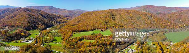 Panoramic view from the top of Seneca Rock, West Virginia