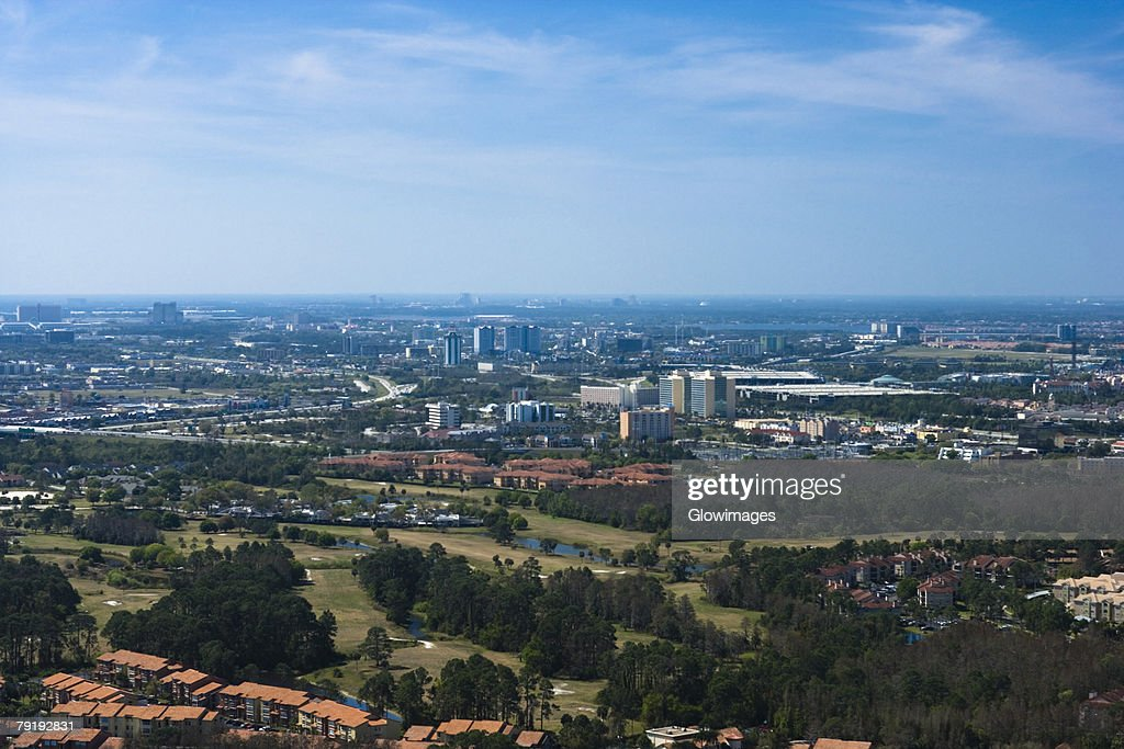 Panoramic view of a city, Orlando, Florida, USA : Foto de stock