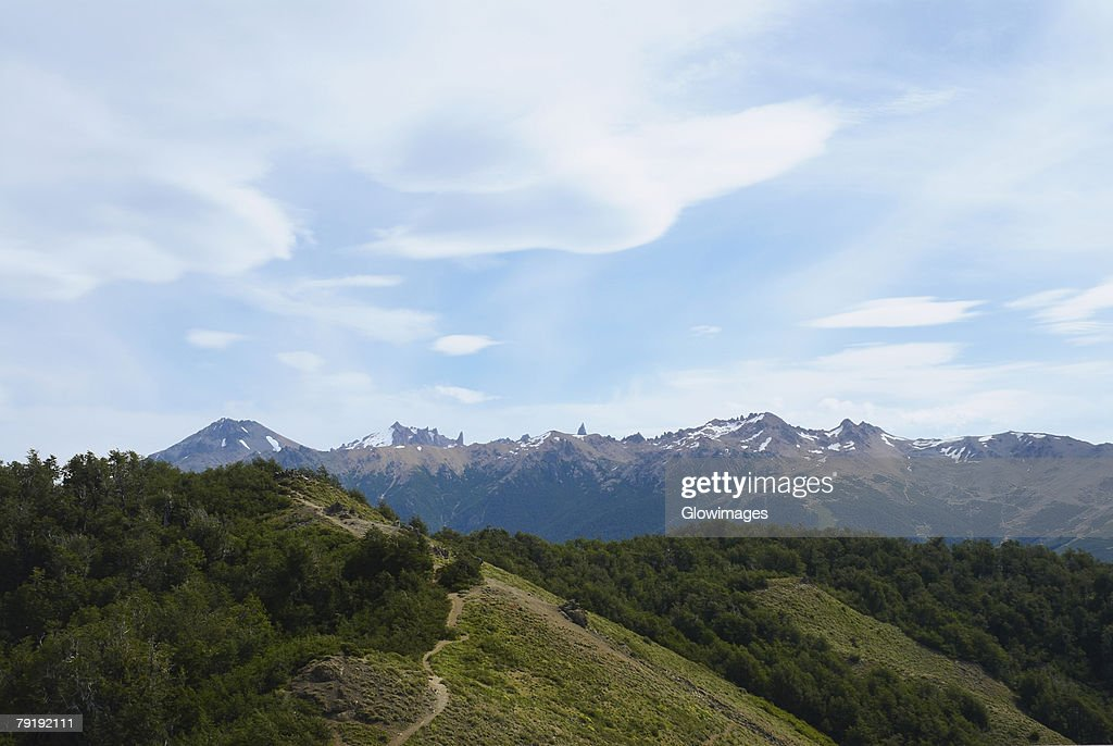 Panoramic view of a mountain range, San Carlos De Bariloche, Argentina : Stock Photo