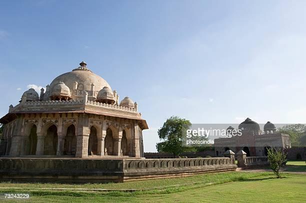 Panoramic view of a tomb, Humayun Tomb, New Delhi, India