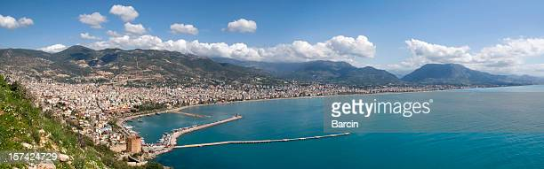 Panoramic view of Alanya harbor