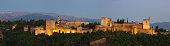 Panoramic view of  Alhambra of Granada.