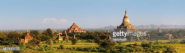 Panoramic view of ancient temples in Bagan