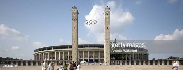 A panoramic view of Berlin's Olympic Stadium on August 26 2008 in Berlin Germany Germany will celebrate the 20th anniversary of the fall of the...