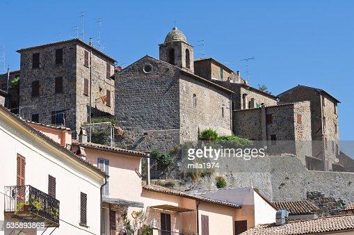 Panoramablick auf Bolsena. Lazio. Italien. : Stock-Foto