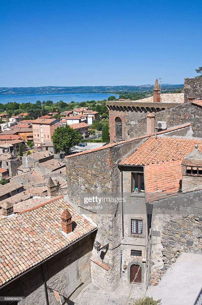 Panoramic view of Bolsena. Lazio. Italy. : Stock Photo