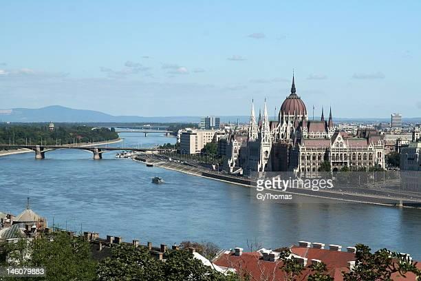 Panoramic view of Budapest.