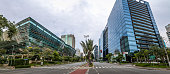 Panoramic view of Builidings at Faria Lima Avenue in Sao Paulo financial district - Sao Paulo, Brazil