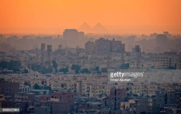Panoramic view of Cairo at sunset, Egypt
