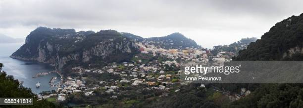 Panoramic view of Capri, seen from Anacapri, Capri Island, Italy