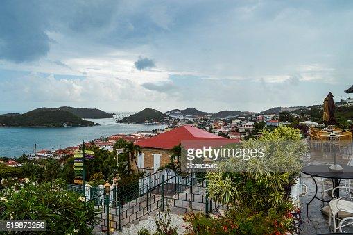 Panoramic view of Charlotte Amalie, St. Thomas, Virgin Islands