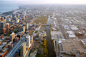panoramic view of Chicago south side