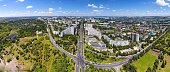Panoramic view of Chisinau at the City Gates. Capital city of Republic of Moldova