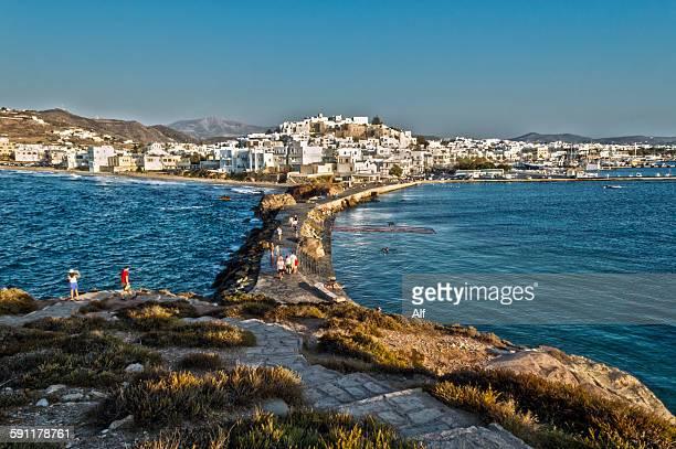 Panoramic view of Chora from Palatia, Naxos