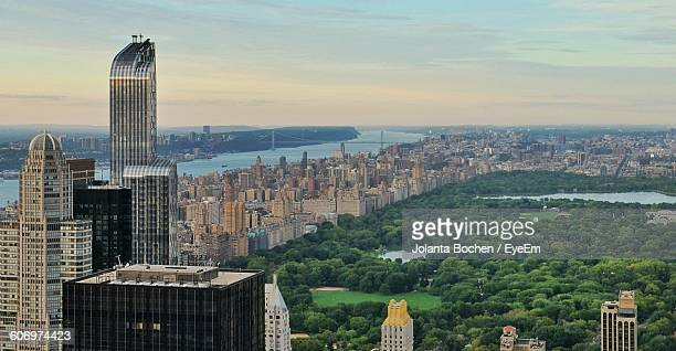 Panoramic View Of Cityscape Against Sky At Central Park