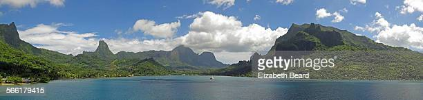 Panoramic view of Cook's Bay, Moorea