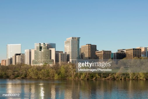Panoramic view of Crystal City on the Potomac River near Arlington, Virginia, USA