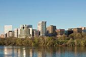 Panoramic view of Crystal City on the Potomac River near Arlington, Virginia, USA