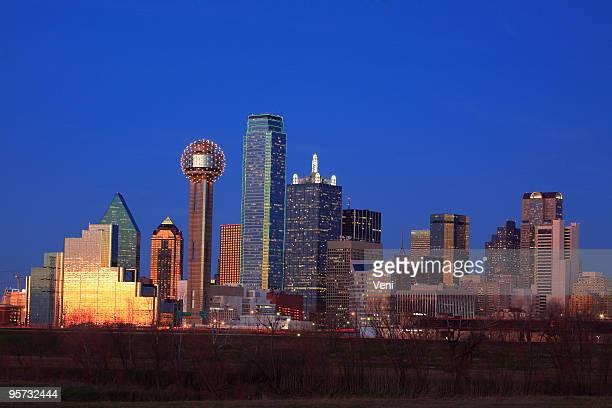 Panoramic view of Dallas skyline, Texas