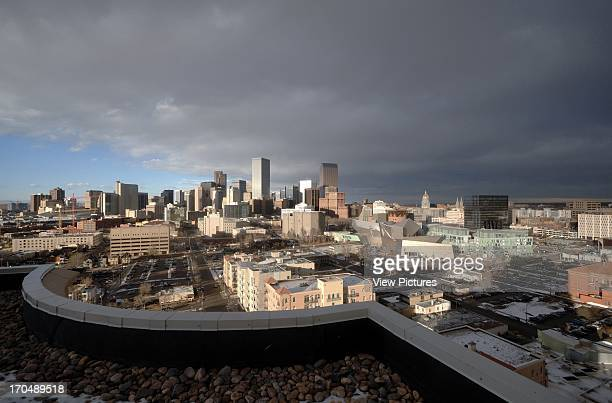 Panoramic view of Denver civic center with the Museum the Residences Denver Library by Michael Graves Extension to the Denver Art Museum Frederic C...
