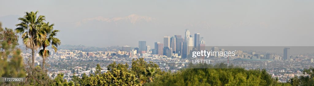 Los angeles panoramic stock photo getty images - Panoramic les angles ...