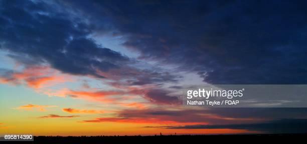 Panoramic view of dramatic sky