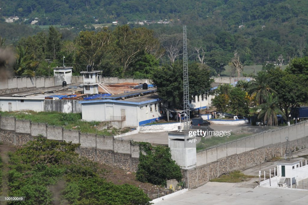Panoramic view of 'El Boqueron' maximum security prison taken May 20, 2010, in Santa Rosa, some 90 km east of Guatemala City. The warden and three guards were taken hostage on Thursday by prisoners belonging to the infamous Mara Salvatrucha gang, police said. AFP PHOTO/Johan ORDONEZ.
