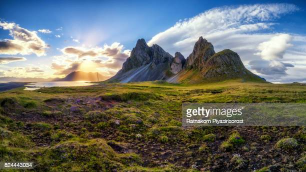 Panoramic view of Eystrahorn, Iceland