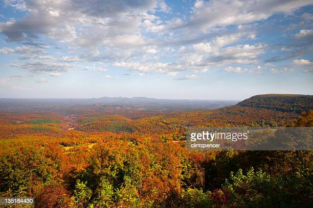 Panoramic view of fall in the Ozarks