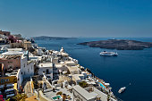 Panoramic view of Fira, Santorini, Greece