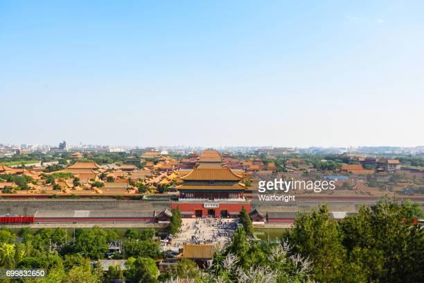 Panoramic view of forbidden city in Beijing,China