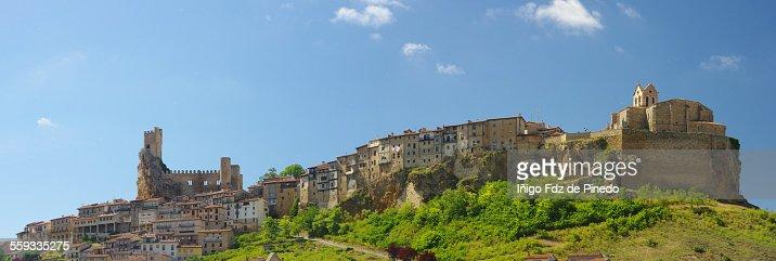Panoramic view of Frías, Burgos, Spain.