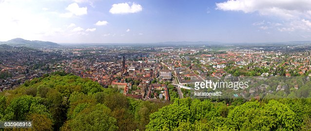Panoramic view of Freiburg im Breisgau, Germany : Stock Photo