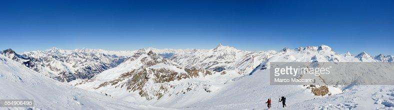 Panoramic view of Gran Paradiso