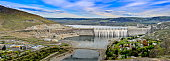 Panoramic View of Grand Coulee Dam.